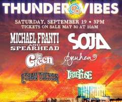 The first annual Thunder Vibes Reggae Festival