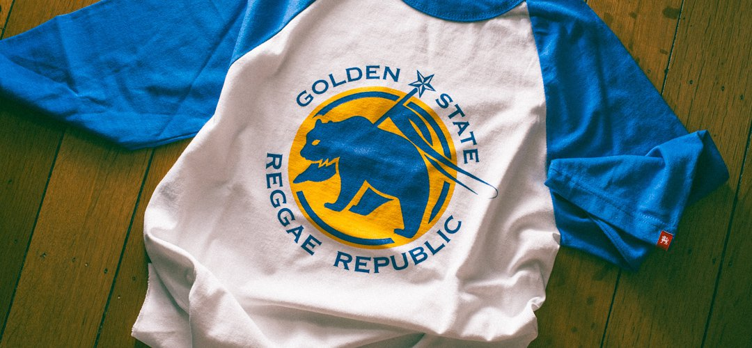 Blue & White Golden State Raglan